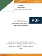 Actividad 7  Riesgo Publico - PROGRAMA DE PREVENCIÓN DE PELIGRO PÚBLICO  PEOINTURES SAS.pdf