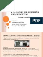 Evaluación del Desempeño Organizacional
