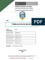 FORMALIZACION DE MYPE CUBE