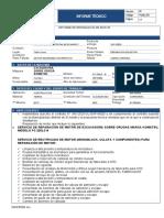 INFORME TECNICO REPARACION DE MOTOR