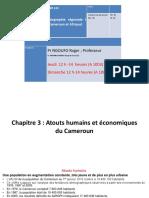 GEO 122 Geographie Regionale _Chapitre 3_Atouts humains et economiques _Pr Roger NGOUFO