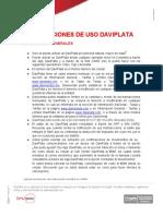 Condiciones de Uso DaviPlata - 29 Sept 2020 -