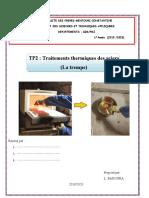 L1-PMI-GIM_Matériaux2-TP2 Traitements thermiques