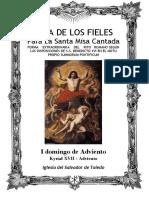 I Domingo de Adviento. Guía de los fieles para la santa misa cantada. Kyrial XVII