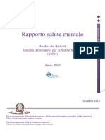 Rapporto Salute Mentale 2015