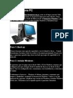 Formatear una PC