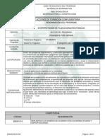 Informe Programa de INTERPRETACION PLANOS