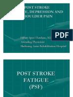 post stroke fatigue depression and shoulder pain