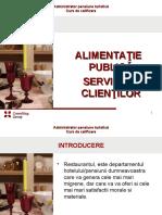 Alimentatie publica. Servirea clientilor