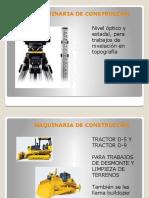 MAQUINARIA DE CONSTRUCCÓN