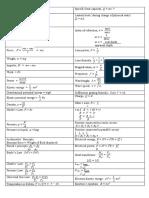 List of formulae