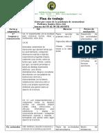 Plan de trabajo covid-19 primer año del 03 al 21 de agosto