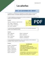 Les adverbes - leçon et exercices