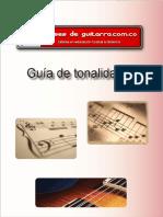 Tabla tonalidades Instructivo de guitarra