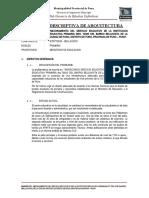 MEMORIA DESCRIPTIVA ARQUITECTURA IEP 70035 BELLAVISTA_2017