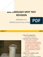BACTERIOLOGY SPOT TEST REVISION 1