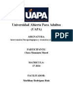 Intervención Psicopedagógica y Atención a la Diversidad (TAREA IV)