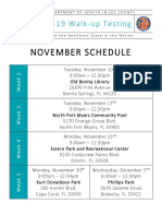 DOH Testing pop-up sites for November