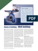 Basics of Knitting - Weft Knitting