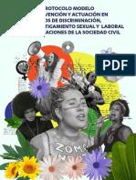 Protocolo Modelo de Prevención y Actuación en Casos de Discriminación. Acoso y Hostigamiento Sexual y Laboral en OSC