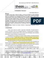 O RACISMO DE ESTADO EM MICHEL FOUCAULT