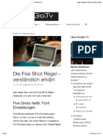 Die Five Shot Regel
