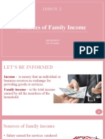 Sources of Family Income