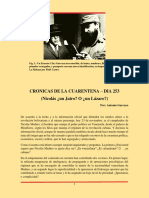 Cronicas de Cuarentena Dia 253 - Nicolás... ¿Un Jairo o un Lazaro?
