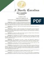 N.C. Executive Order 180 - Nov. 23, 2020