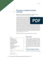 Physiologie et régulation du liquide