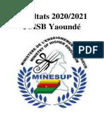 Résultats de la FMSB 2020