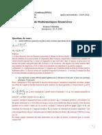 Correction_TD math fin L3                                              GESTION_2020