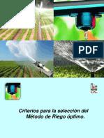 3.1 Criterios de selección para el método de riego óptimo estudiar (1)
