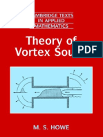 Theory of Vortex Sound (Cambridge Texts in Applied Mathematics) by M. S. Howe