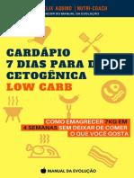 Cardápio Dieta Cetogênica - Low Carb