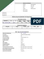 Informe de procesamiento de líneas base con efemeridad