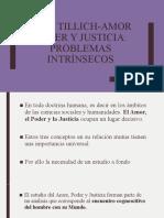 Introducción a Amor Poder y Justicia de Paul Tillich
