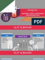 Ekstraksi gigi RA dan anastesi