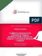 SEMANA 2 ELEMENTOS ESENCIALES DEL CONTRATO DE TRABAJO - Clase 2