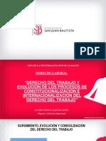 DERECHO DEL TRABAJO Y EVOLUCIÓN -