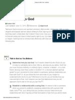 Three Ways to Talk to God