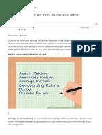 Como calcular o retorno da carteira anual - Oandwb Conhecimento