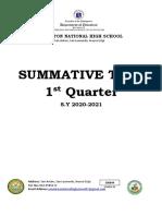 SUMMATIVE-TEST 1st sample