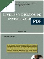 NIVELES Y DISEÑOS DE INVESTIGACIÓN