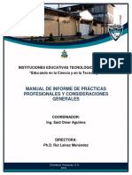 MANUAL DE INFORME DE PRACTICA 2019