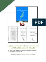 Análisis comparativo de las dos versiones del Plan Hidráulico de Manabí