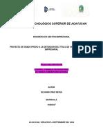 CONTROL Y MANEJO DE INVENTARIO EN TIENDA COMUNITARIA DICONSA S.A DE C.V SILVIANO CRUZ REYES MATRICULA  160B0557 IGEM