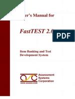 FastTEST 2.0 Manual