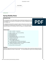 Spring Stability - Roy Mech