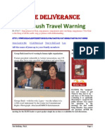 George Bush Travel Warning